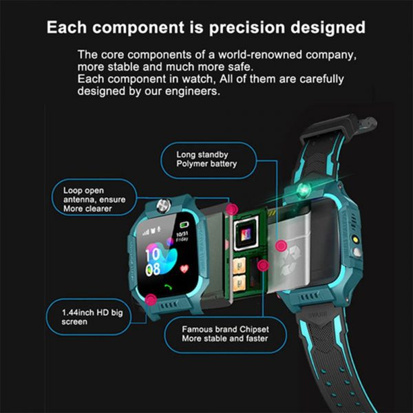 Z6 Q19 Kids Waterproof Smart Watch with Touch Camera SOS Watch for Boys and Girls_10