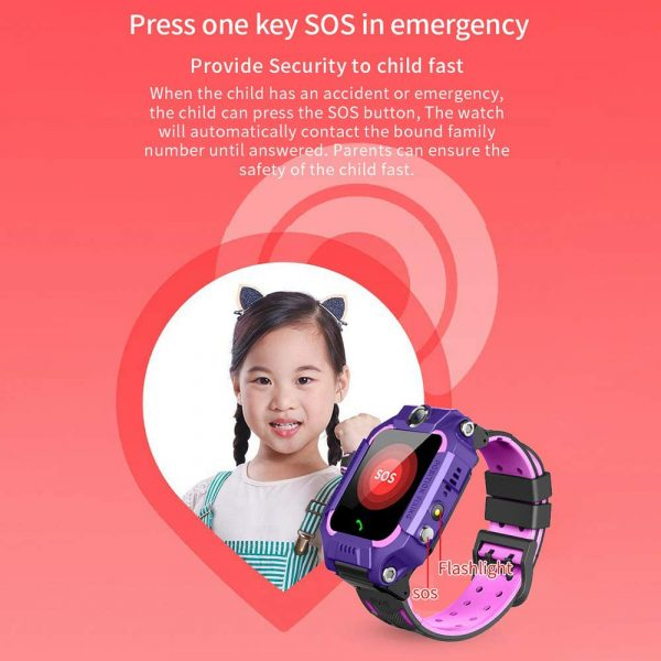 Z6 Q19 Kids Waterproof Smart Watch with Touch Camera SOS Watch for Boys and Girls_7