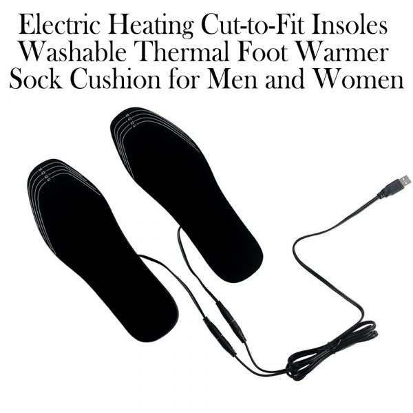 Electric Heating Cut-to-Fit Insoles Washable Thermal Foot Warmer Sock Cushion for Men and Women_11