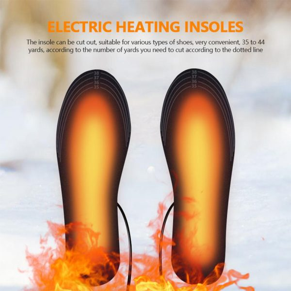 Electric Heating Cut-to-Fit Insoles Washable Thermal Foot Warmer Sock Cushion for Men and Women_12