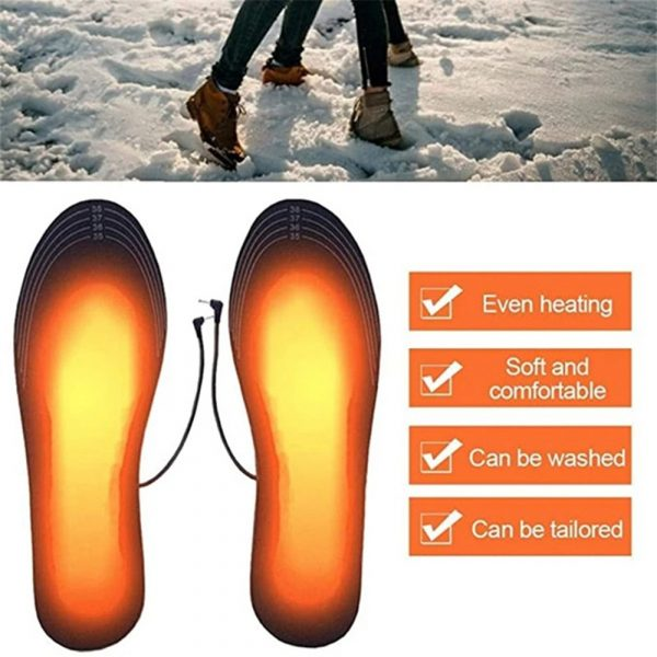 Electric Heating Cut-to-Fit Insoles Washable Thermal Foot Warmer Sock Cushion for Men and Women_14