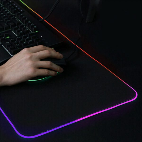 RGB LED Non-Slip Luminous Mouse Pad for Gaming PC Keyboard Cover Base Computer Mat_13