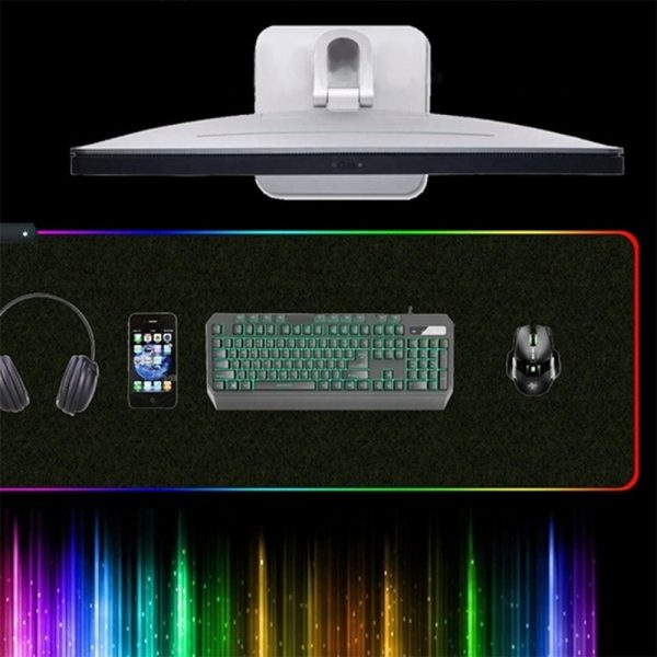 RGB LED Non-Slip Luminous Mouse Pad for Gaming PC Keyboard Cover Base Computer Mat_14