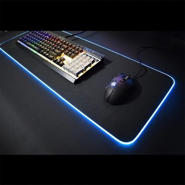 RGB LED Non-Slip Luminous Mouse Pad for Gaming PC Keyboard Cover Base Computer Mat_15