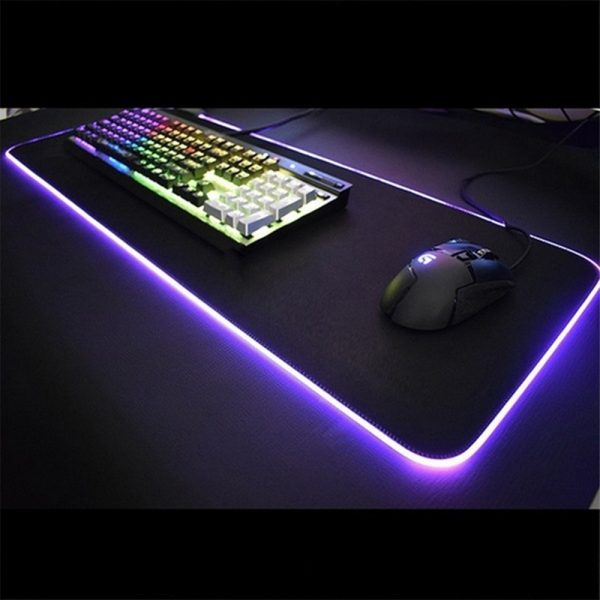 RGB LED Non-Slip Luminous Mouse Pad for Gaming PC Keyboard Cover Base Computer Mat_16