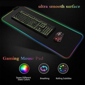 RGB LED Non-Slip Luminous Mouse Pad for Gaming PC Keyboard Cover Base Computer Mat