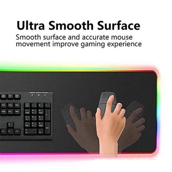 RGB LED Non-Slip Luminous Mouse Pad for Gaming PC Keyboard Cover Base Computer Mat_2