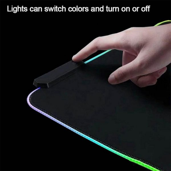 RGB LED Non-Slip Luminous Mouse Pad for Gaming PC Keyboard Cover Base Computer Mat_3