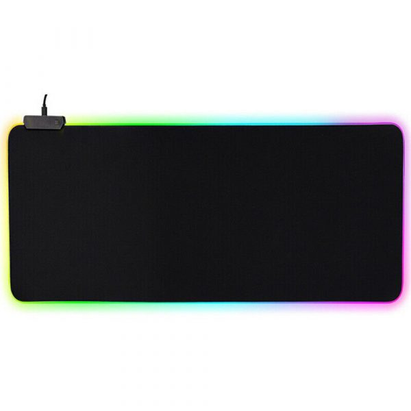 RGB LED Non-Slip Luminous Mouse Pad for Gaming PC Keyboard Cover Base Computer Mat_0