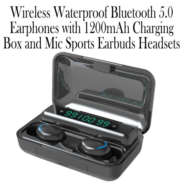 Wireless Waterproof Bluetooth 5.0 Earphones with 1200mAh Charging Box and Mic Sports Earbuds Headsets_9