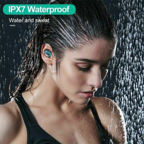 Wireless Waterproof Bluetooth 5.0 Earphones with 1200mAh Charging Box and Mic Sports Earbuds Headsets_13