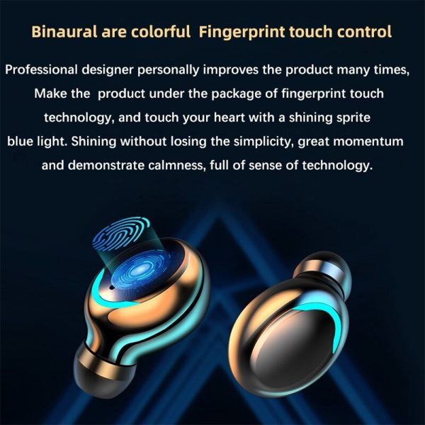 Wireless Waterproof Bluetooth 5.0 Earphones with 1200mAh Charging Box and Mic Sports Earbuds Headsets_1