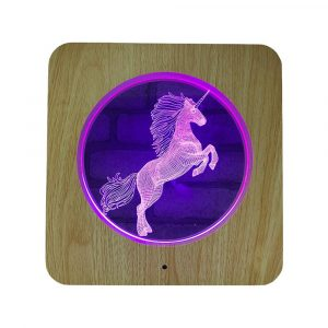 3D Acrylic Illusion 7 Color Night Light Bedside Table Light for Children's Room Decoration