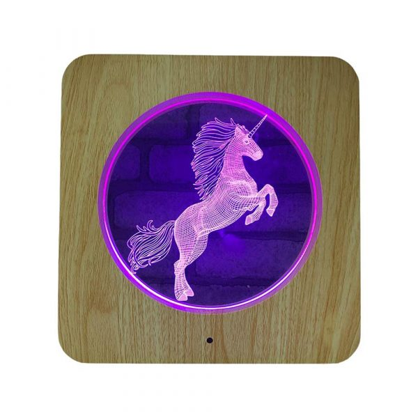 3D Acrylic Illusion 7 Color Night Light Bedside Table Light for Children's Room Decoration_0