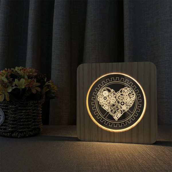 3D Acrylic Illusion 7 Color Night Light Bedside Table Light for Children's Room Decoration_8