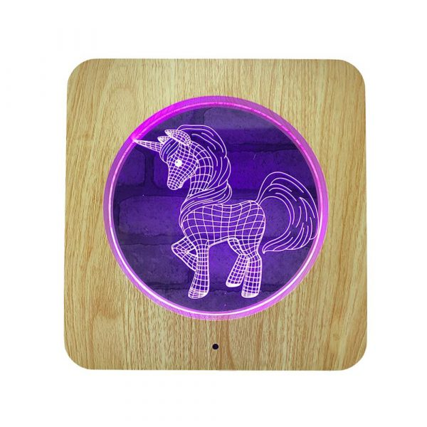 3D Acrylic Illusion 7 Color Night Light Bedside Table Light for Children's Room Decoration_12