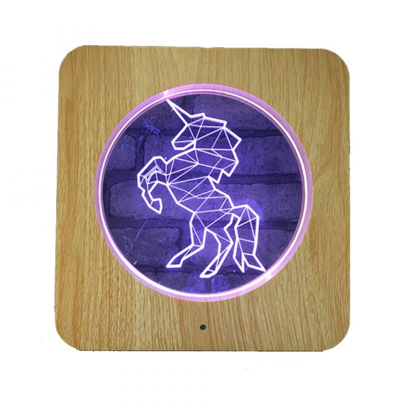 3D Acrylic Illusion 7 Color Night Light Bedside Table Light for Children's Room Decoration_13