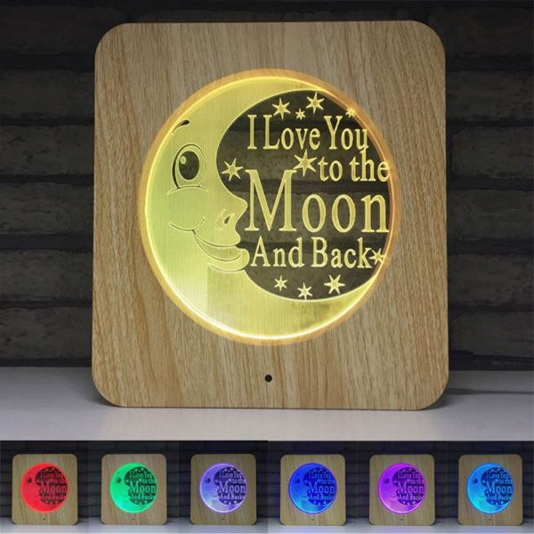 3D Acrylic Illusion 7 Color Night Light Bedside Table Light for Children's Room Decoration_5