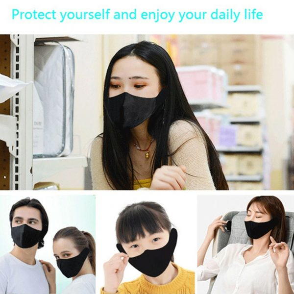 Washable Fabric Musical Bluetooth USB Rechargeable Unisex Face Mask_2