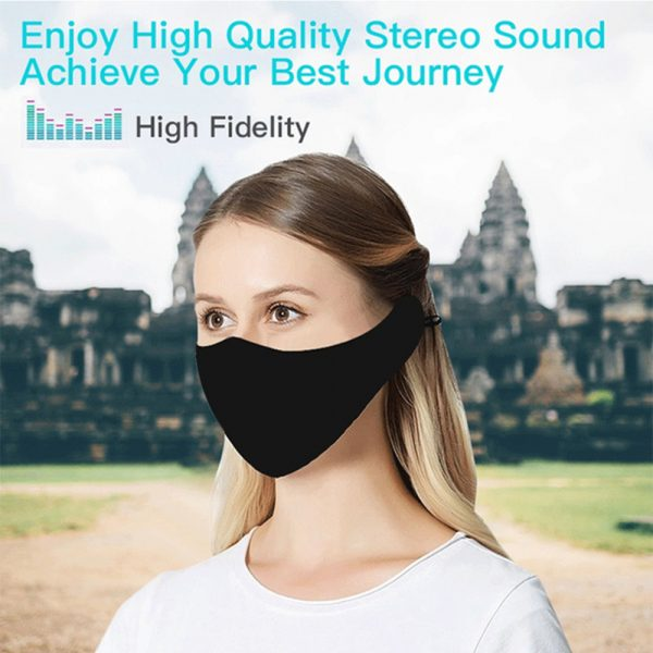 Washable Fabric Musical Bluetooth USB Rechargeable Unisex Face Mask_3