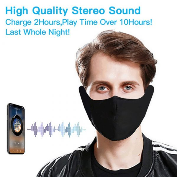 Washable Fabric Musical Bluetooth USB Rechargeable Unisex Face Mask_6