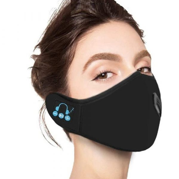 Washable Fabric Musical Bluetooth USB Rechargeable Unisex Face Mask_10