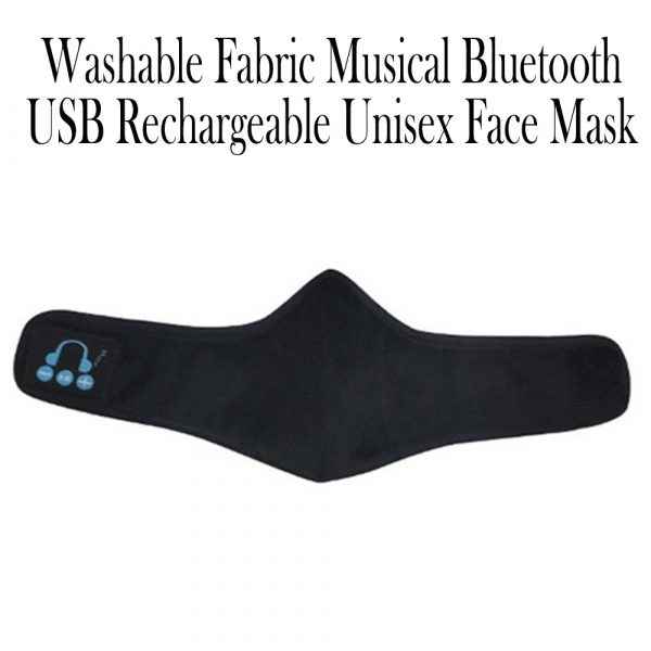 Washable Fabric Musical Bluetooth USB Rechargeable Unisex Face Mask_12