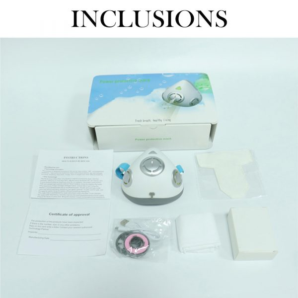 USB Rechargeable Personal Wearable Air Purifier Smart Electric Face Mask_9