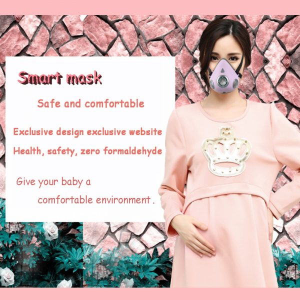 USB Rechargeable Personal Wearable Air Purifier Smart Electric Face Mask_11