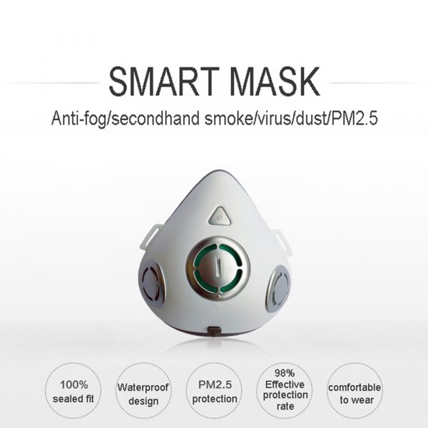 USB Rechargeable Personal Wearable Air Purifier Smart Electric Face Mask_1