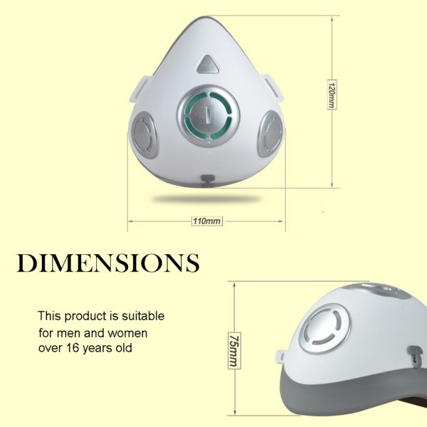 USB Rechargeable Personal Wearable Air Purifier Smart Electric Face Mask_4