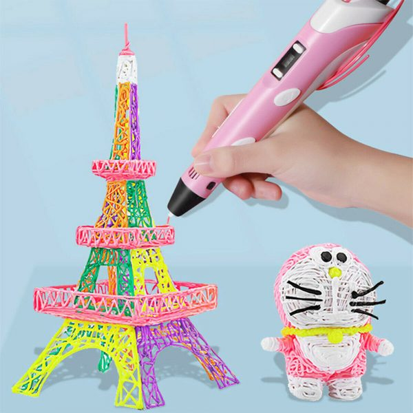 Magic 3D Printing Pen for Kids DIY Pen with LED Display and Filaments_4