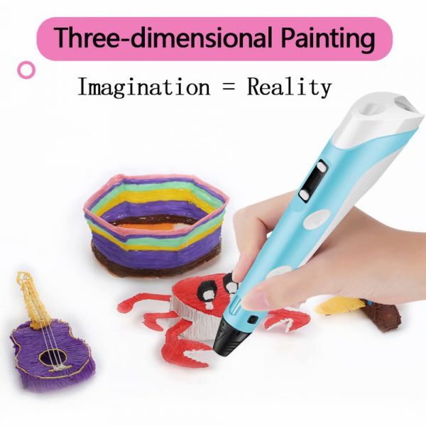 Magic 3D Printing Pen for Kids DIY Pen with LED Display and Filaments_7