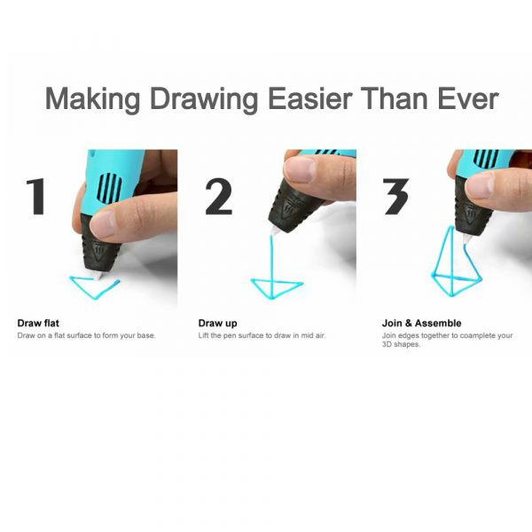 Magic 3D Printing Pen for Kids DIY Pen with LED Display and Filaments_9