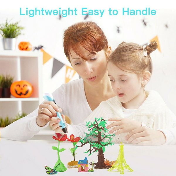 Magic 3D Printing Pen for Kids DIY Pen with LED Display and Filaments_12
