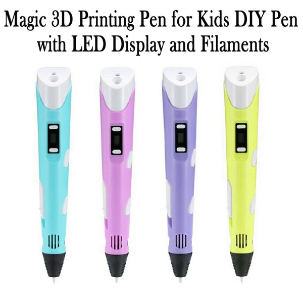 Magic 3D Printing Pen for Kids DIY Pen with LED Display and Filaments_16