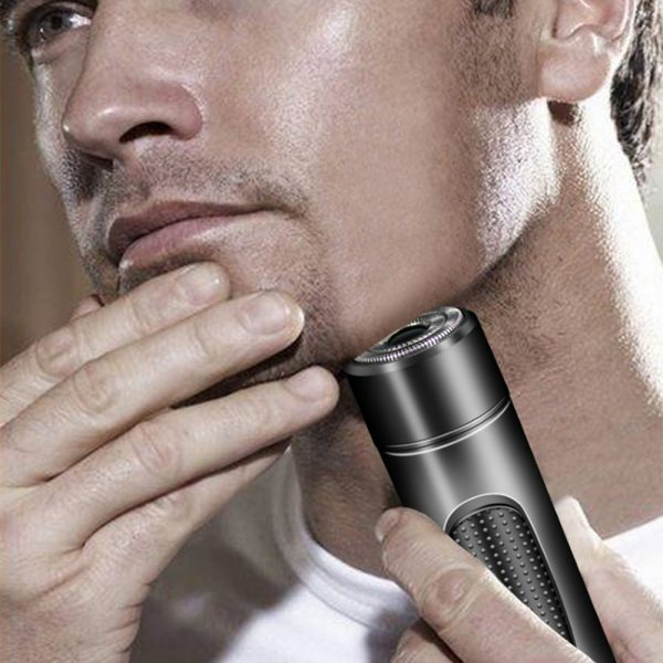 Mini Electric Rotary Shaver Portable Micro-USB Electric Razor for Face and Body Hair_3