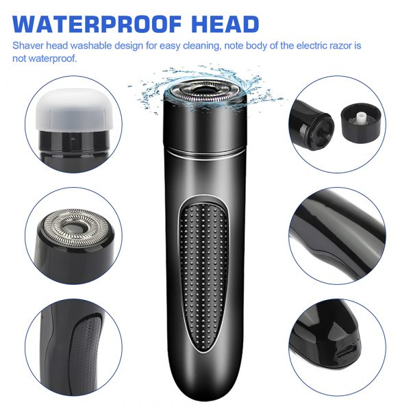 Mini Electric Rotary Shaver Portable Micro-USB Electric Razor for Face and Body Hair_8