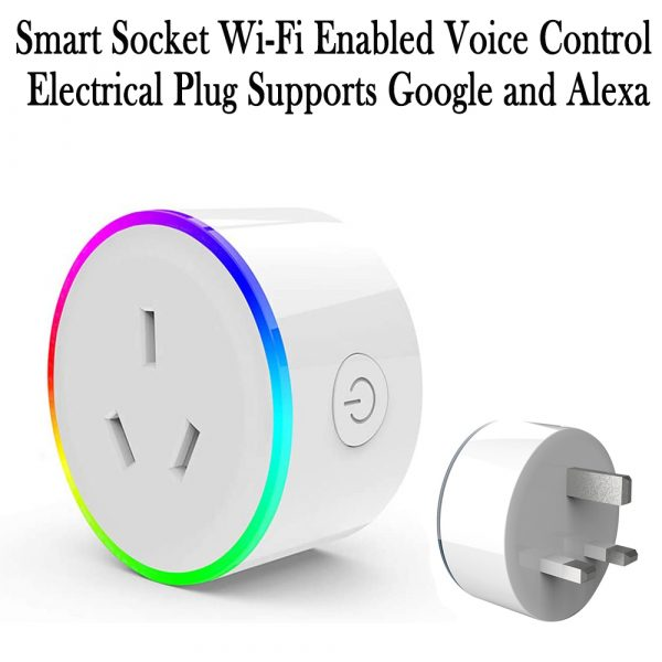 Smart Socket Wi-Fi Enabled Voice Control Electrical Plug Supports Google and Alexa_0