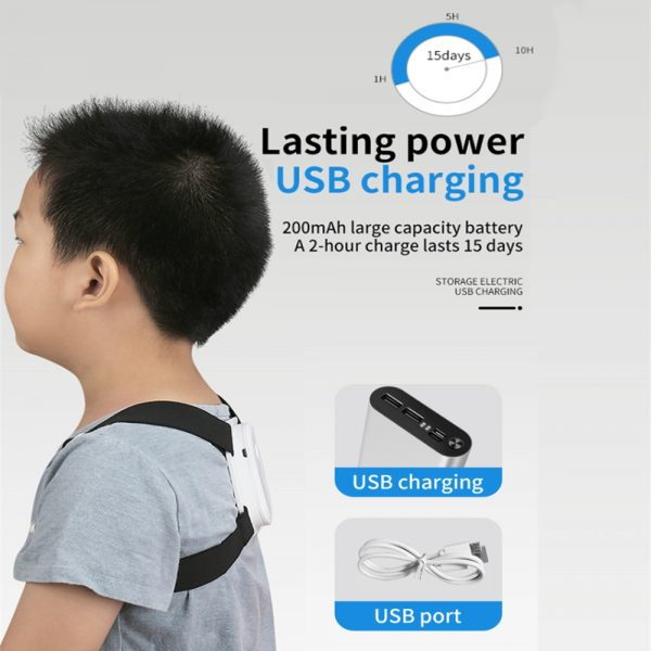 USB Rechargeable Smart Back Posture Corrector for Injury and Back Rehabilitation_9
