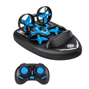 3-in-1 Remote Controlled Toy Drone Hover Glider for Land, Air, and Water