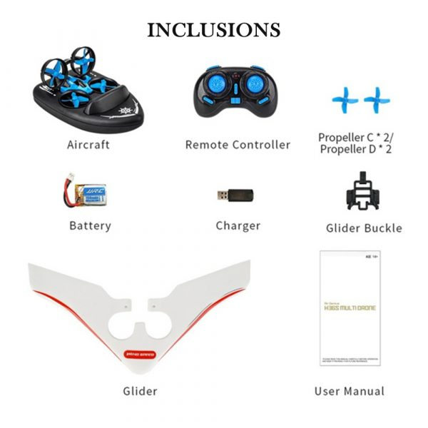3-in-1 Remote Controlled Toy Drone Hover Glider for Land, Air, and Water_17