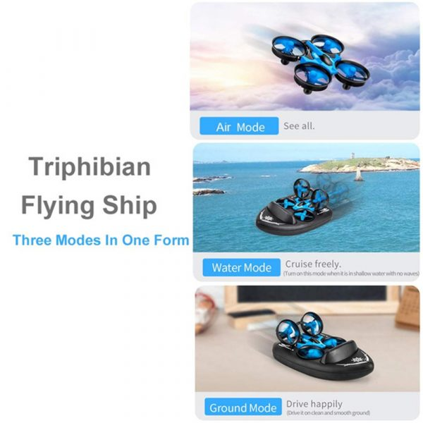 3-in-1 Remote Controlled Toy Drone Hover Glider for Land, Air, and Water_7