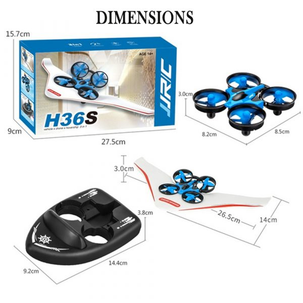 3-in-1 Remote Controlled Toy Drone Hover Glider for Land, Air, and Water_12