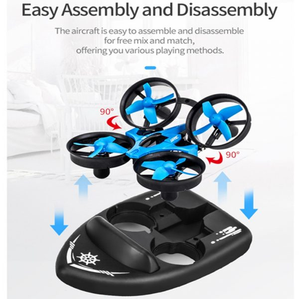 3-in-1 Remote Controlled Toy Drone Hover Glider for Land, Air, and Water_14