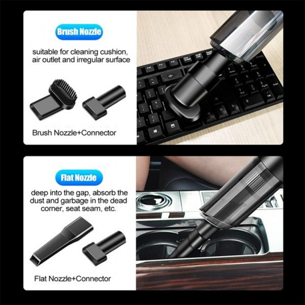 Dual Use High Powered Cordless Portable Handheld Car Home Vacuum Cleaner for Dust and Dirt_6