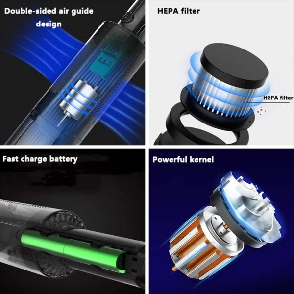 Dual Use High Powered Cordless Portable Handheld Car Home Vacuum Cleaner for Dust and Dirt_8