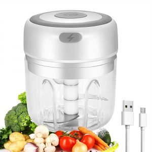 Automatic Mini Electric Food Chopper Portable Mini Food Processor