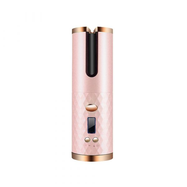 USB Rechargeable Cordless Auto-Rotating Ceramic Portable Women's Hair Curler_3