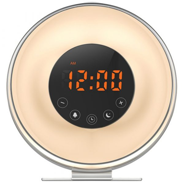 New Touch Wake-up Alarm Clock Touch Sensitive LED Light Simulation Digital Clock_0